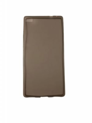 Силиконов прозрачен калъф за Huawei P8 сив