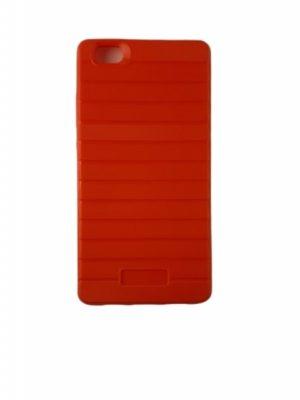 Силиконов калъф за Huawei P8 Lite тъмно червен