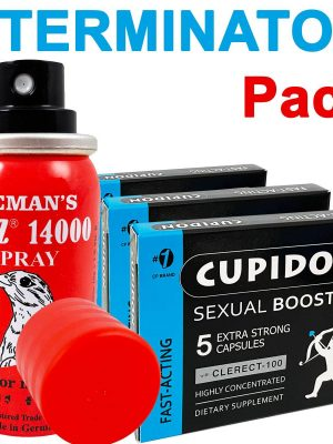 Cupidon капсули за ерекция 15 бр. + спрей за задържане DOOZ 14000