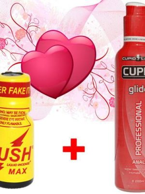 Cupid Glide Anal лубрикант за анален секс + Poppers Rush