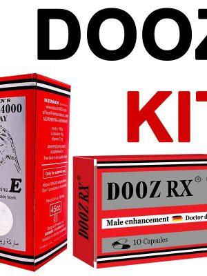 Dooz КИТ - Dooz 14000 Задържащ спрей + DOOZ Rx Таблетки за ерекция 10 бр.