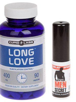 Long Love таблетки за задържане на еякулацията + Men Secret задържащ спрей