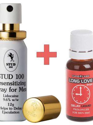 Stud 100 Задържащ спрей + Long Love задържащи капки