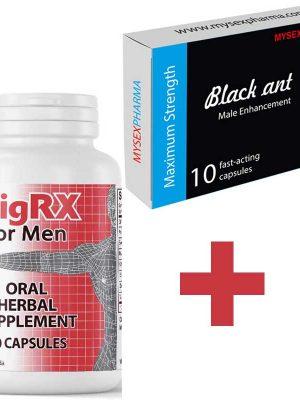 VigRX таблетки за уголемяване на пениса и ерекция + Black Ant Черна Мравка